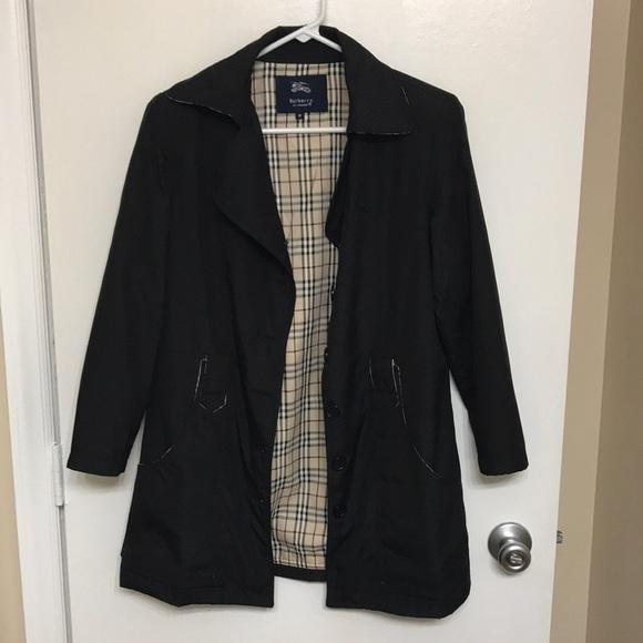 Black Burberry Women's Short Trench Coat